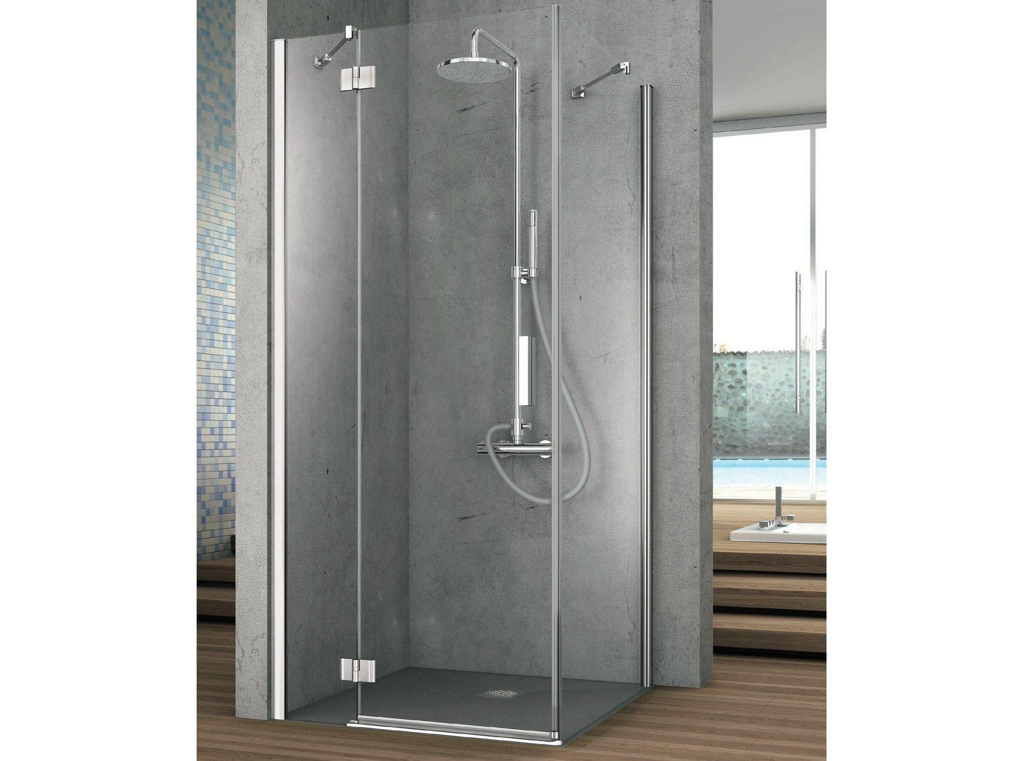 Element cabine de douche en cristal by gruppo geromin - Cabine de douche 80x100 ...