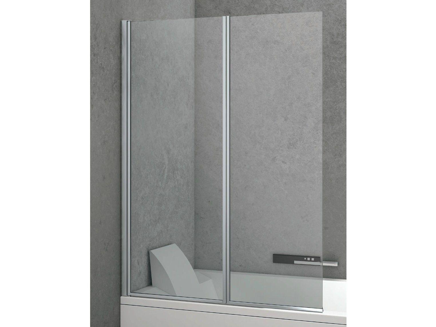 Vasche in vetro aqualux parete doccia in vetro per vasca - Vasca da bagno in vetro ...