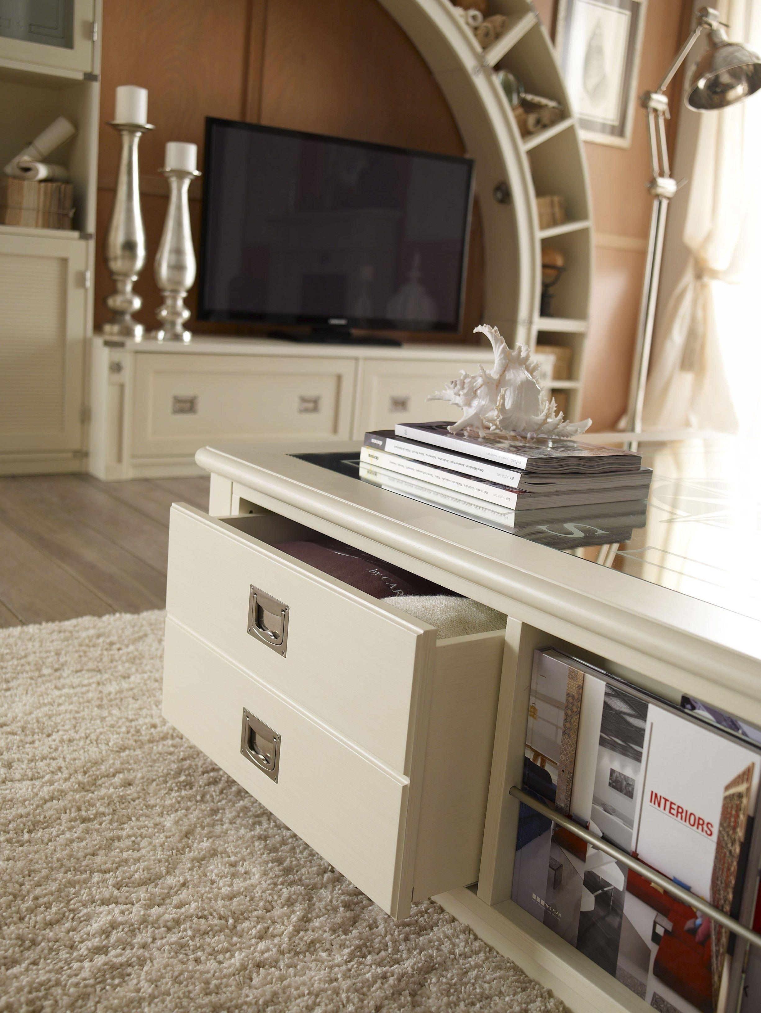 1009 Table basse avec porte-revues intégré by Caroti