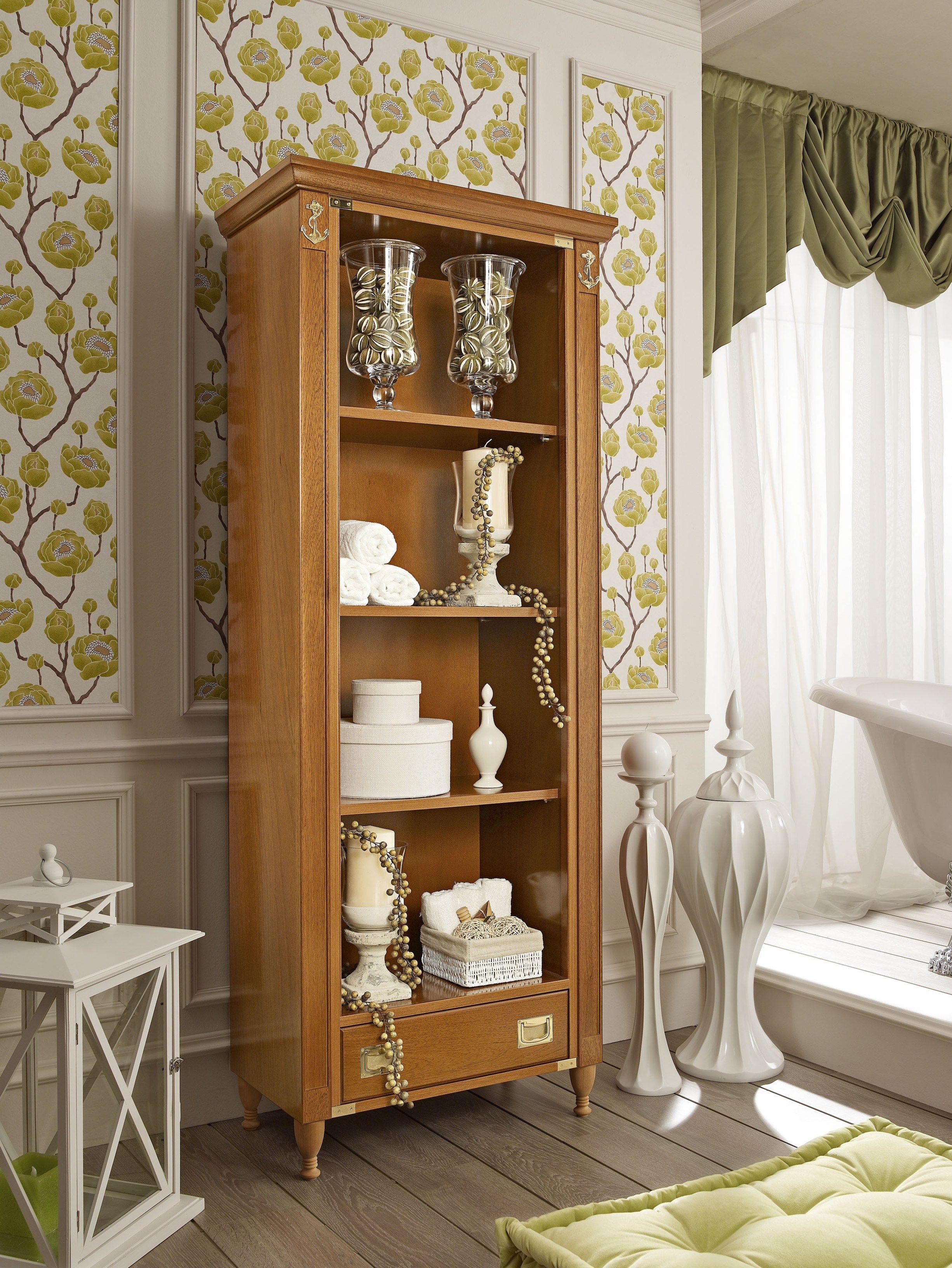Mobile bagno a colonna a giorno alto in legno in stile for Mobile bagno legno