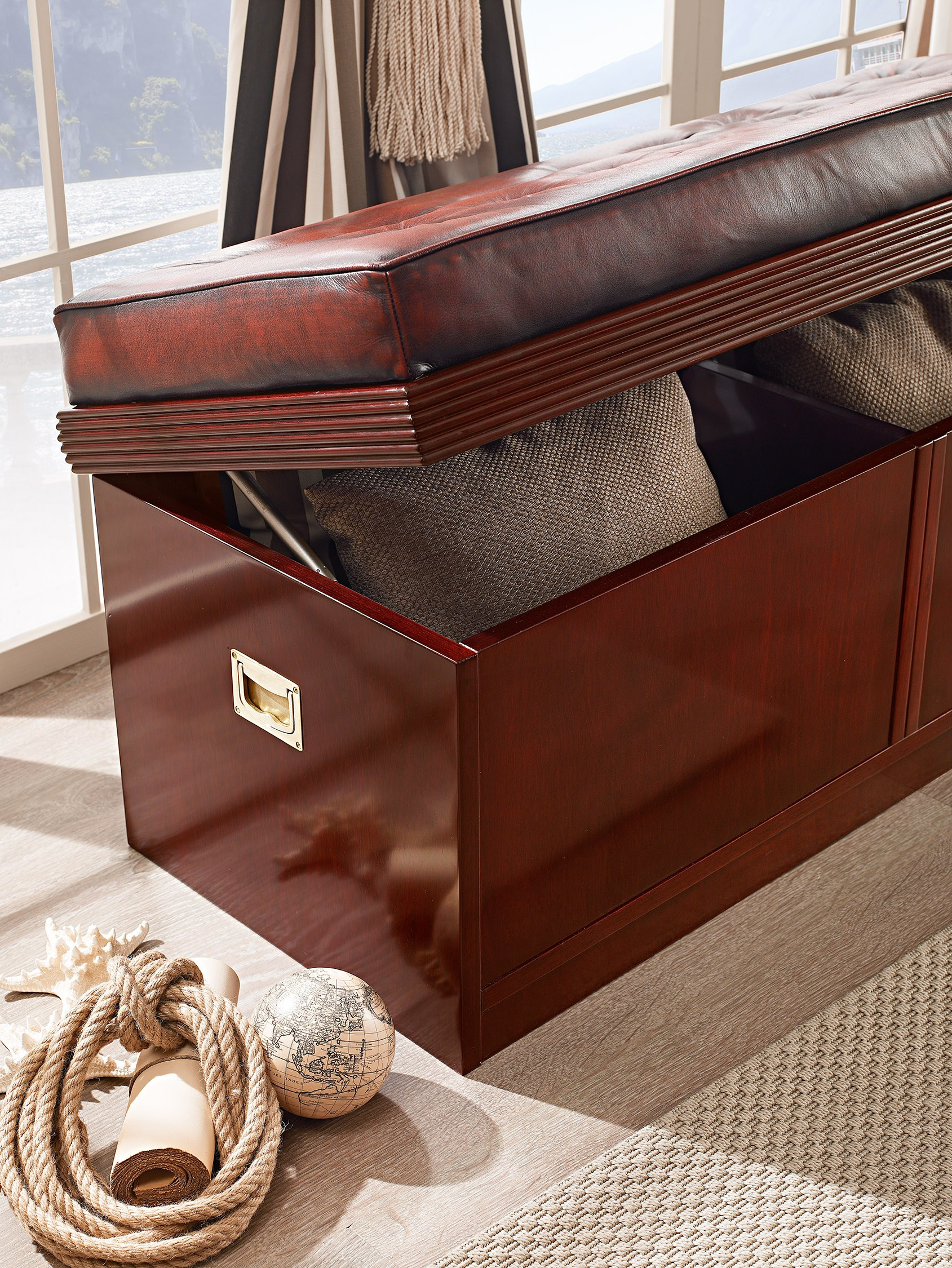 Cassapanca in legno in stile classico 618 linea goldline for Cassapanca con seduta