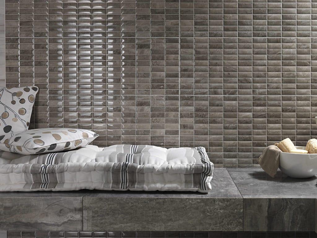 Mosaico in ceramica a pasta bianca marmi imperiali wall for Mosaico ceramica