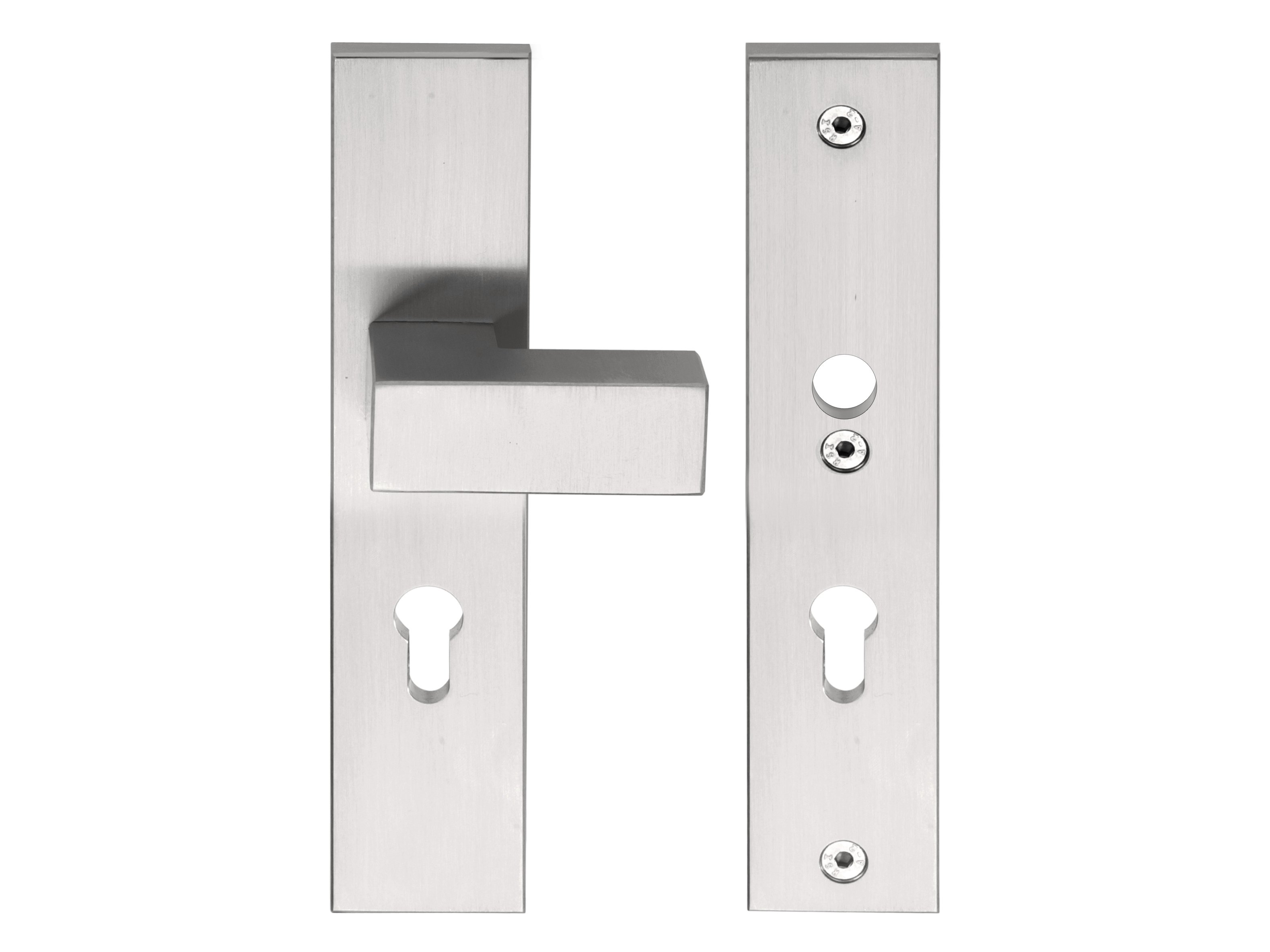 Square poign e pour portes d 39 entr e by formani holland b v for Fixation porte d entree