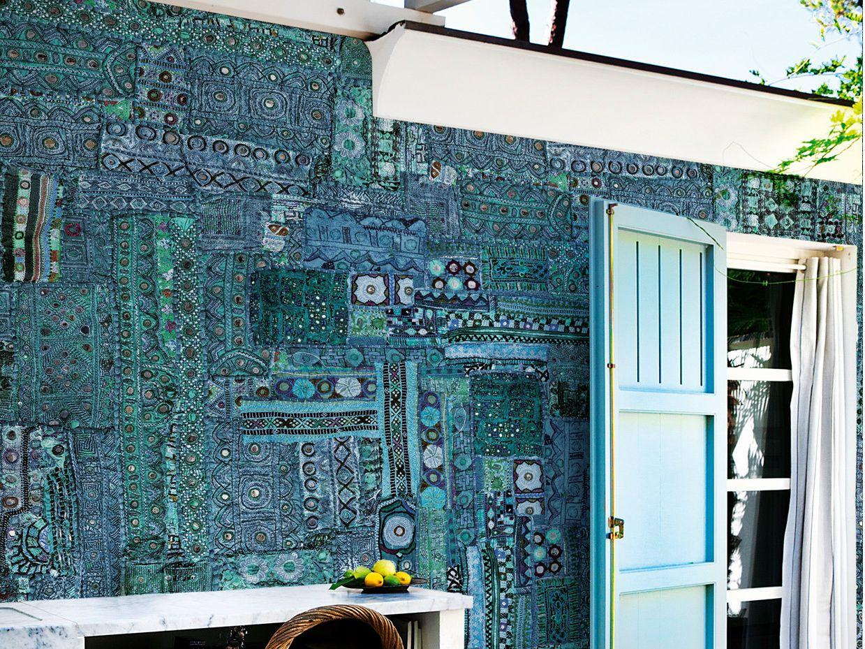 Papel pintado con motivos para exterior tribal pop by wall for Carta da parati da esterno