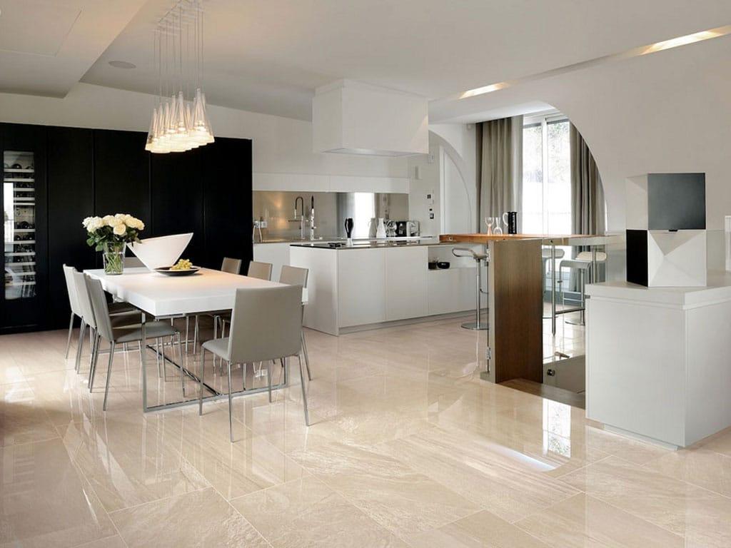 piastrelle beige cucina moderna : Glazed stoneware flooring with stone effect MINERAL D LIVING Zolfo ...