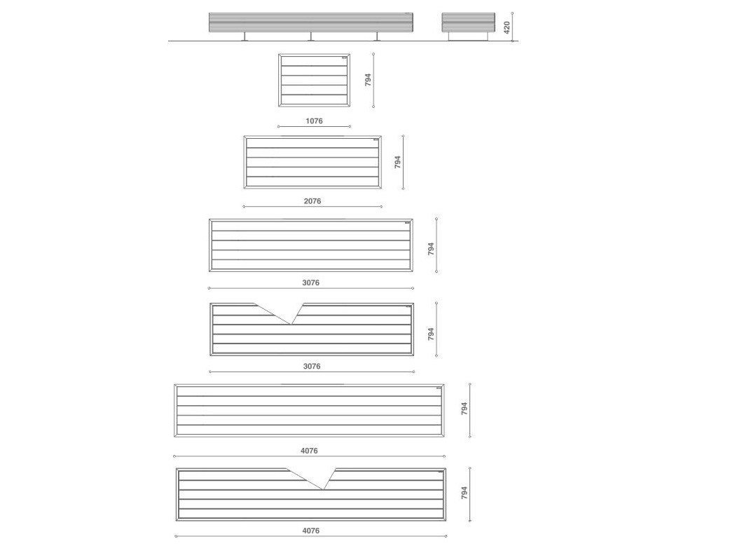 Banc en bois sans dossier big harris by metalco design sjit - Banc en bois sans dossier ...
