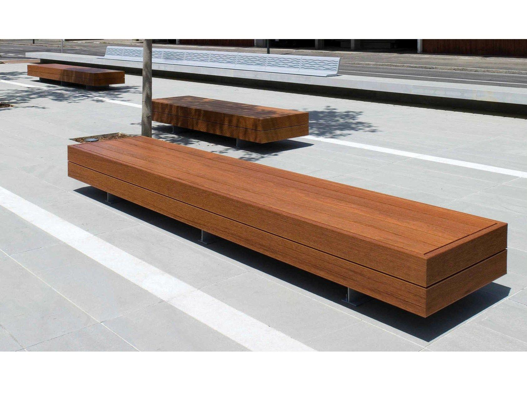Backless wooden bench big harris by metalco design sjit - Banco de madera ...