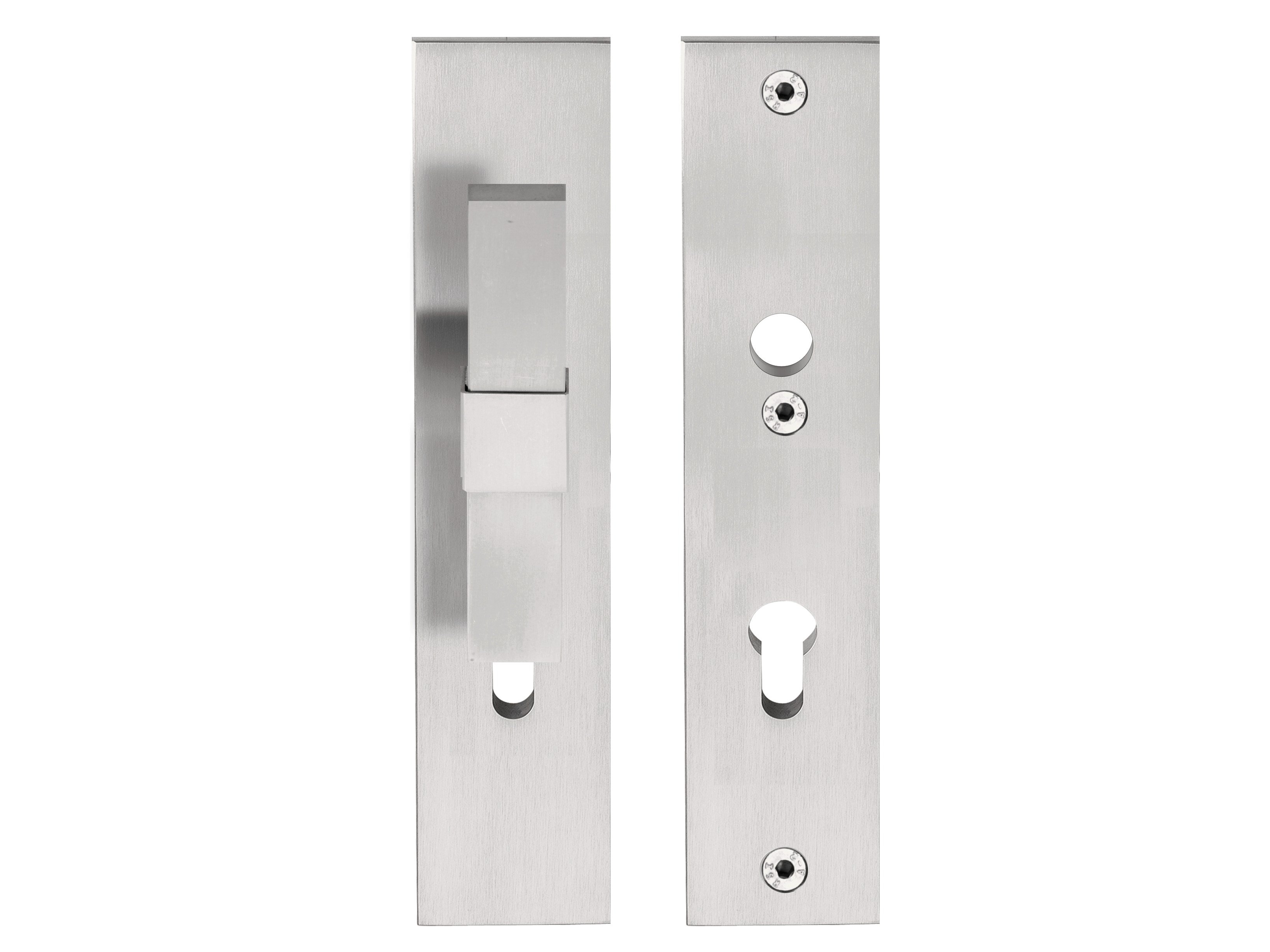 2450 #6A6161 Stainless Steel Exterior Door Handle On Back Plate VOLUME Exterior  picture/photo Stainless Steel Front Doors 47393266