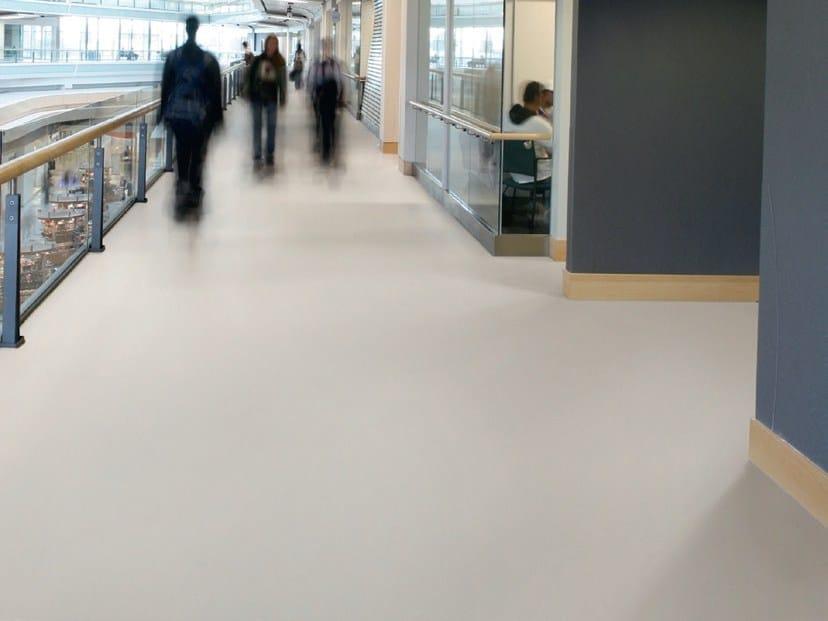 Antibacterial vinyl floor tiles taralay uni comfort multilayered flooring line by gerflor for Parquet pvc gerflor