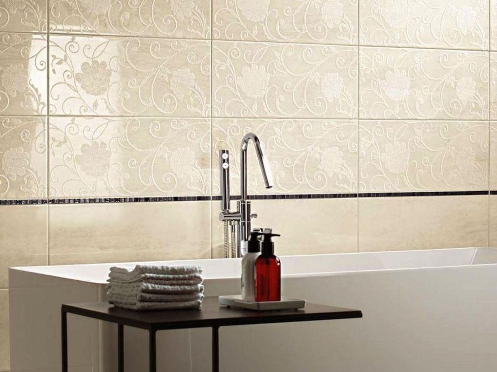 Rivestimento in ceramica a pasta bianca effetto marmo MARMO D WALL Travertino...