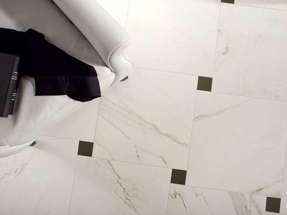 Glazed stoneware flooring with marble effect marmo d for Marmo zebrino