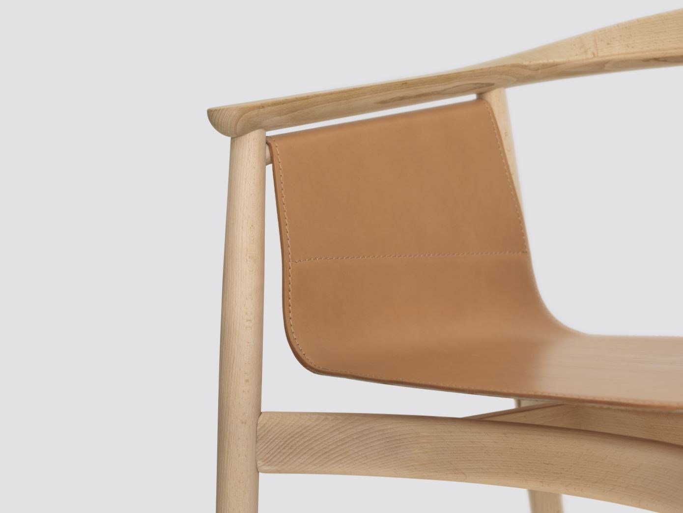Wooden Chair With Armrests PELLE By ZEITRAUM Design Lorenz*Kaz. Full resolution  file, nominally Width 1390 Height 1044 pixels, file with #714C34.
