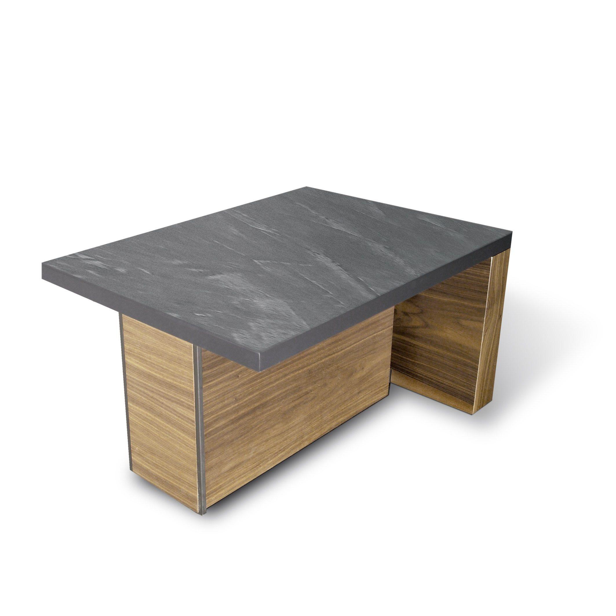 Table basse rectangulaire en bois avec porte revues - Table basse avec bar integre ...
