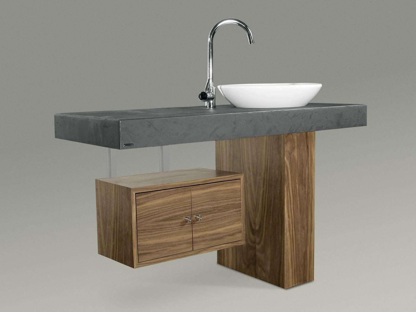 701 mueble bajo lavabo by wissmann raumobjekte - Mueble lavabo con pie ...