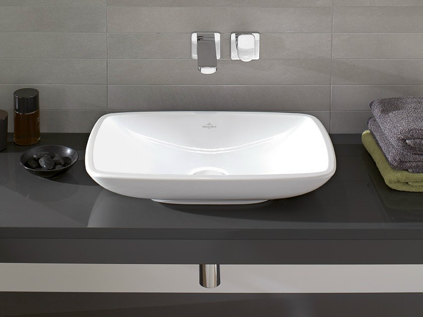 countertop ceramic washbasin loop friends collection by villeroy boch. Black Bedroom Furniture Sets. Home Design Ideas