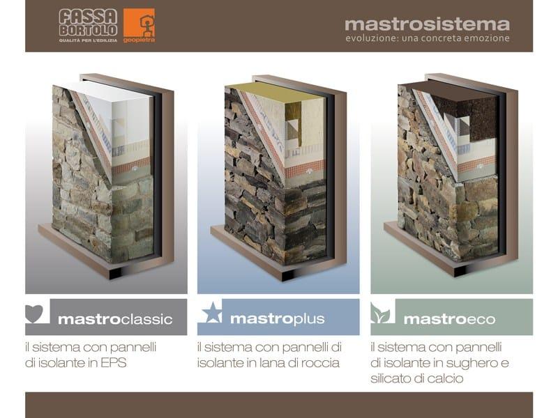 Sistema per isolamento a cappotto e pietra ricostruita Mastrosistema ...
