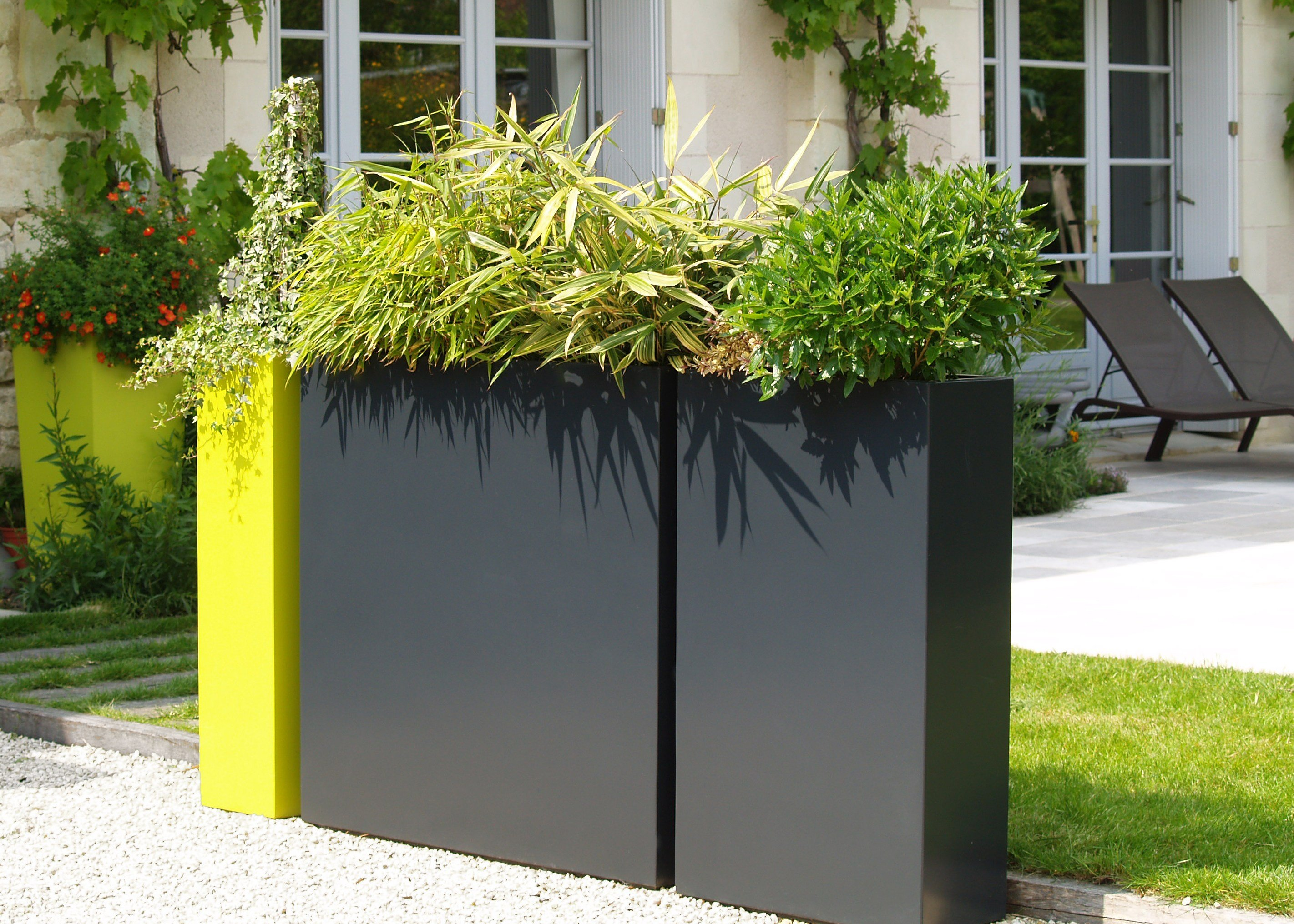 Fiber Cement Planter Irf By Image'in Design Fabien Joly Pflanzkubel Faserzement Balkon