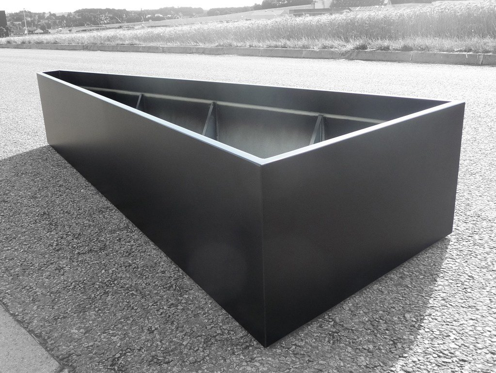 fiber cement planter triangular or trapezoidal planter by image u0027in
