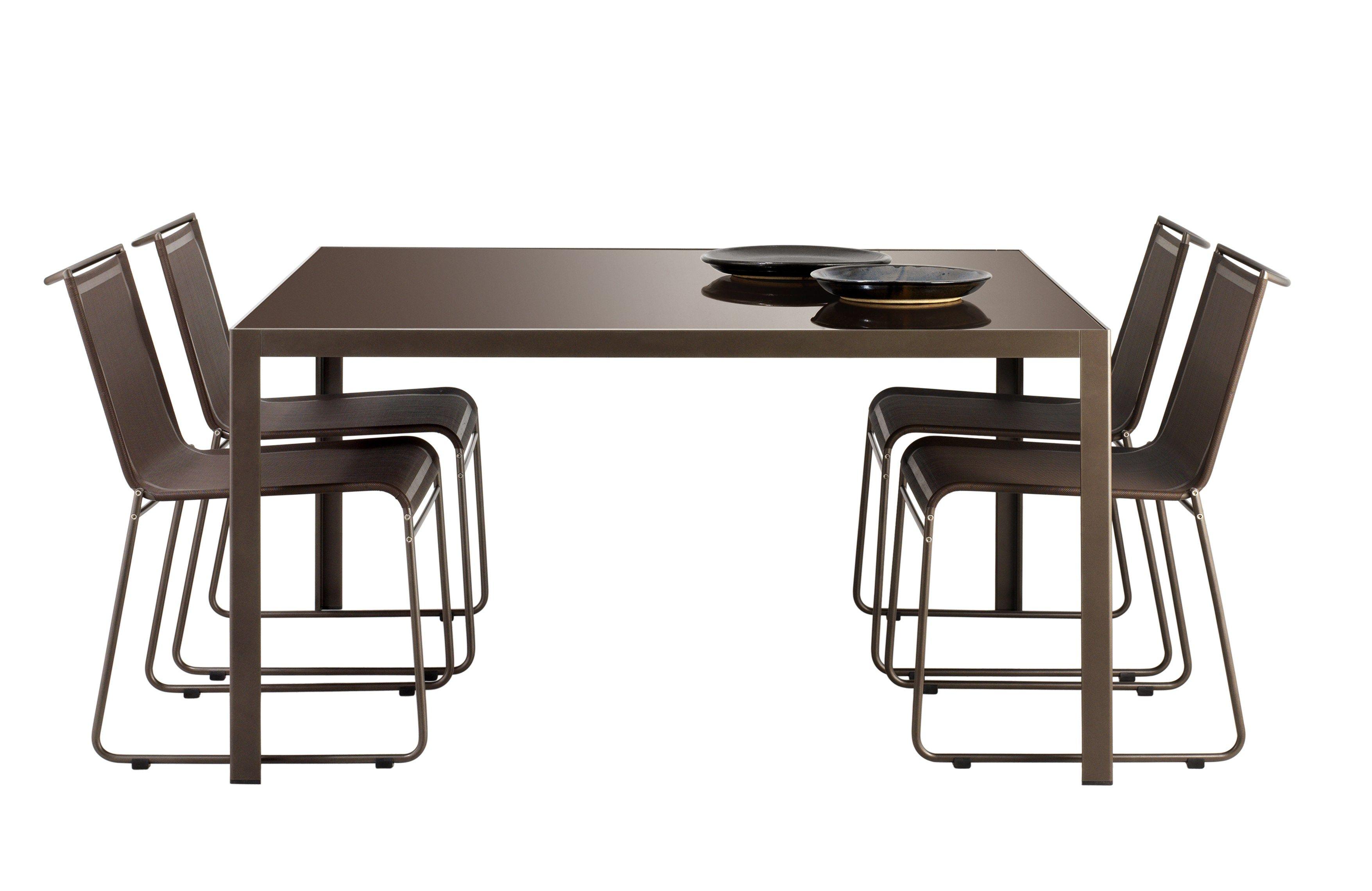 mesa para jardim aluminio