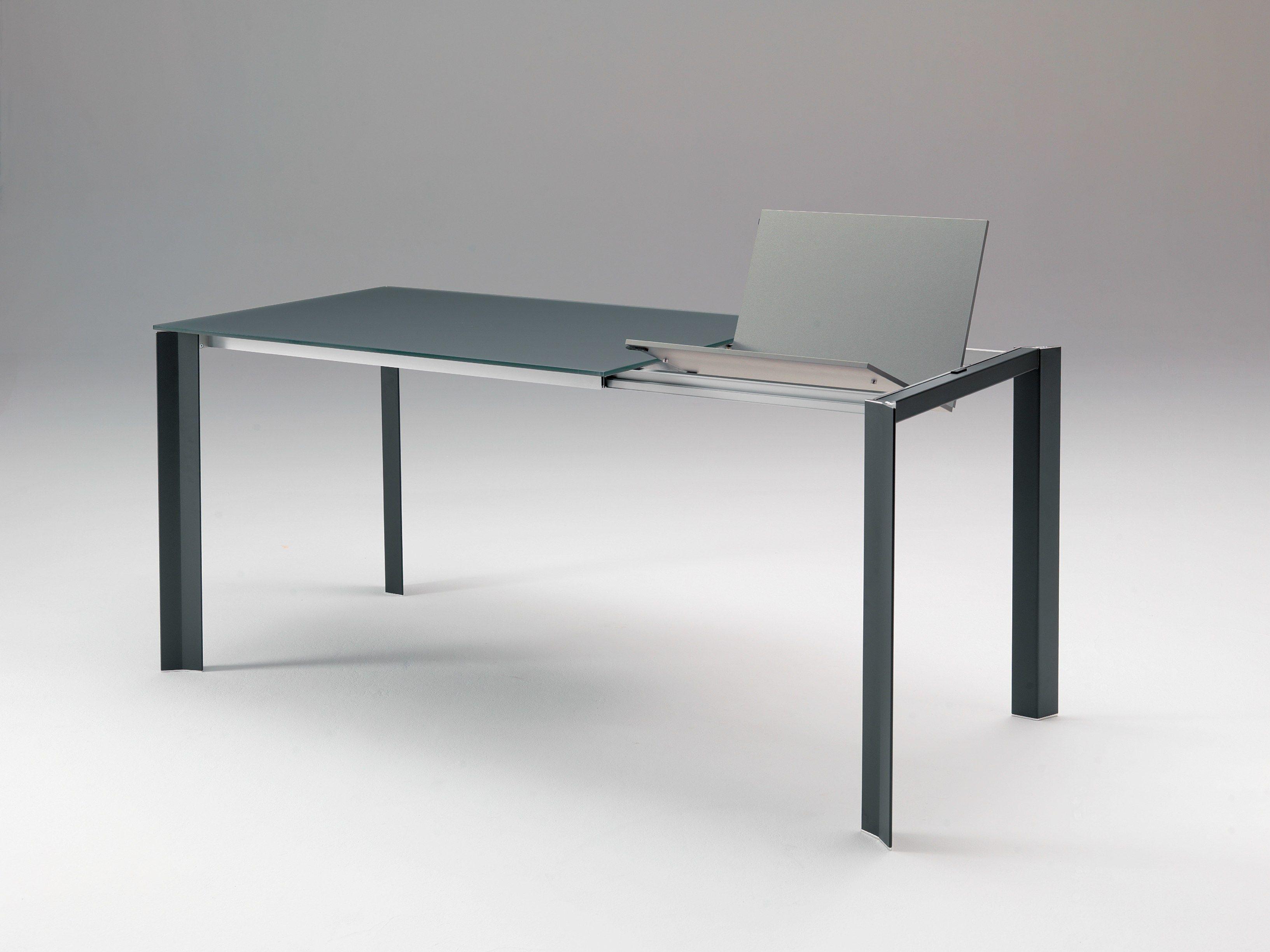 Tavolo allungabile rettangolare in alluminio in stile for Tavolo allungabile telescopico