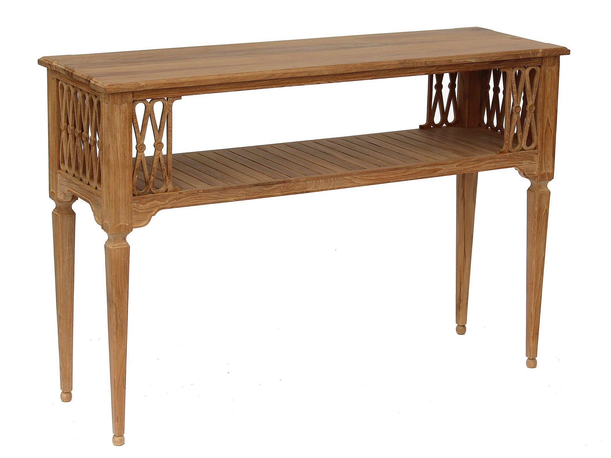 garten konsolentisch aus teakholz serpentine. Black Bedroom Furniture Sets. Home Design Ideas