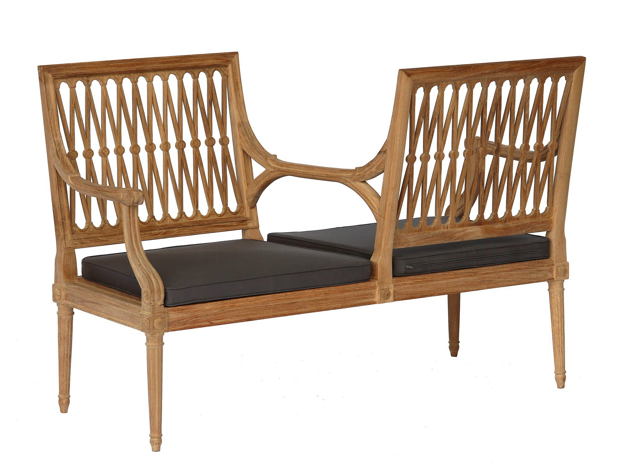 2 Seater Teak Garden Sofa Serpentine Collection By Astello Design Dominique Malcor Thierry