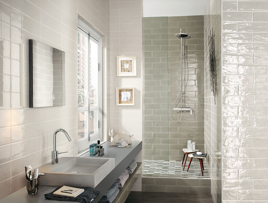 Brick Tiles Bathroom Part - 18: New 33 Bathroom Designs With Brick Wall Tiles Ultimate Home Ideas
