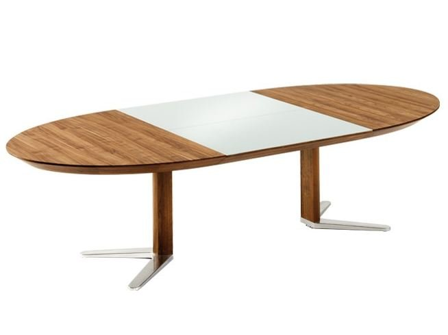 Girado table ovale by team 7 nat rlich wohnen for Table extensible rallonge integree