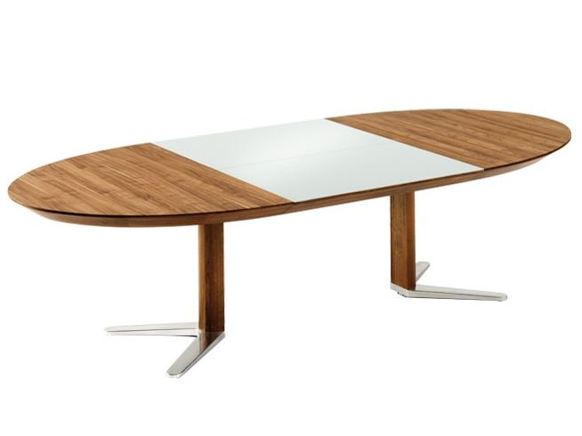 Girado table ovale by team 7 nat rlich wohnen for Table ovale extensible