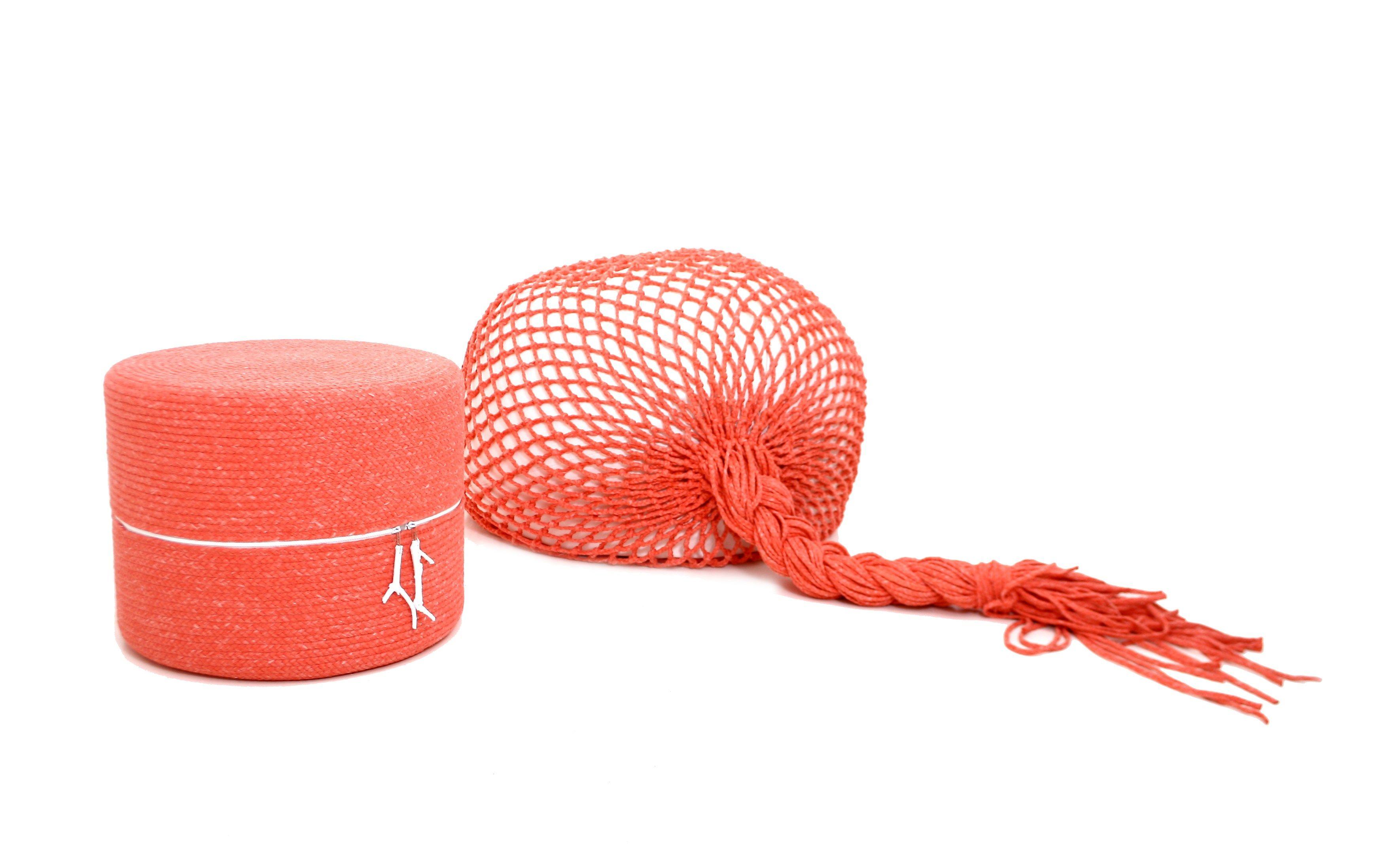 hand geflochtene viskose sitzsack designs von darono | möbelideen, Wohnzimmer dekoo