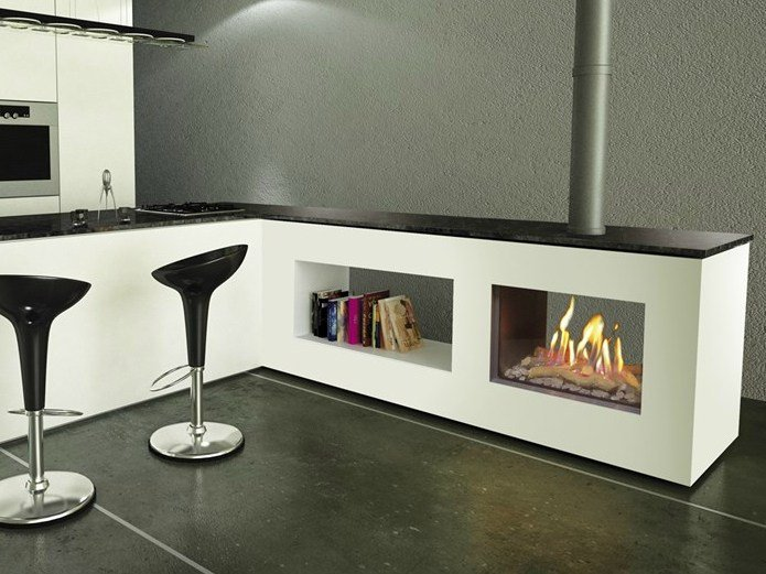 double sided gas fireplace. Black Bedroom Furniture Sets. Home Design Ideas