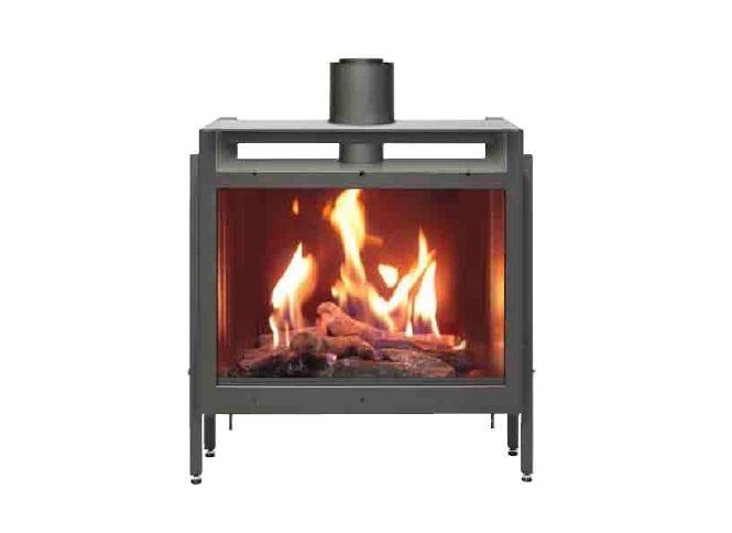 Firenze double sided fireplace insert by italkero for Double sided fireplace price