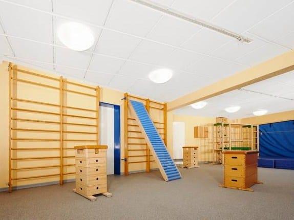 faux plafond insonorisant en laine de verre ecophon super. Black Bedroom Furniture Sets. Home Design Ideas