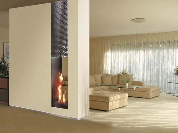 roma double sided fireplace insert by italkero. Black Bedroom Furniture Sets. Home Design Ideas