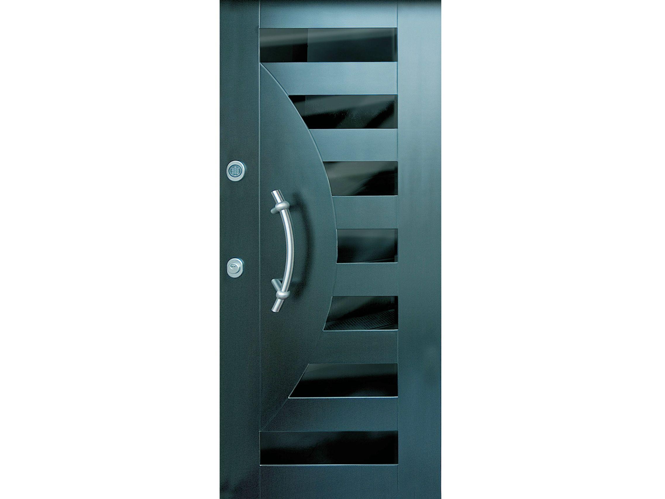 Panel para puertas blindadas en acero y vidrio segni s701 for Fotos de puertas de metal