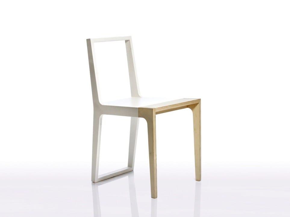 Silla de madera maciza SKIN WR.02 by Branca-Lisboa diseño Marco ...