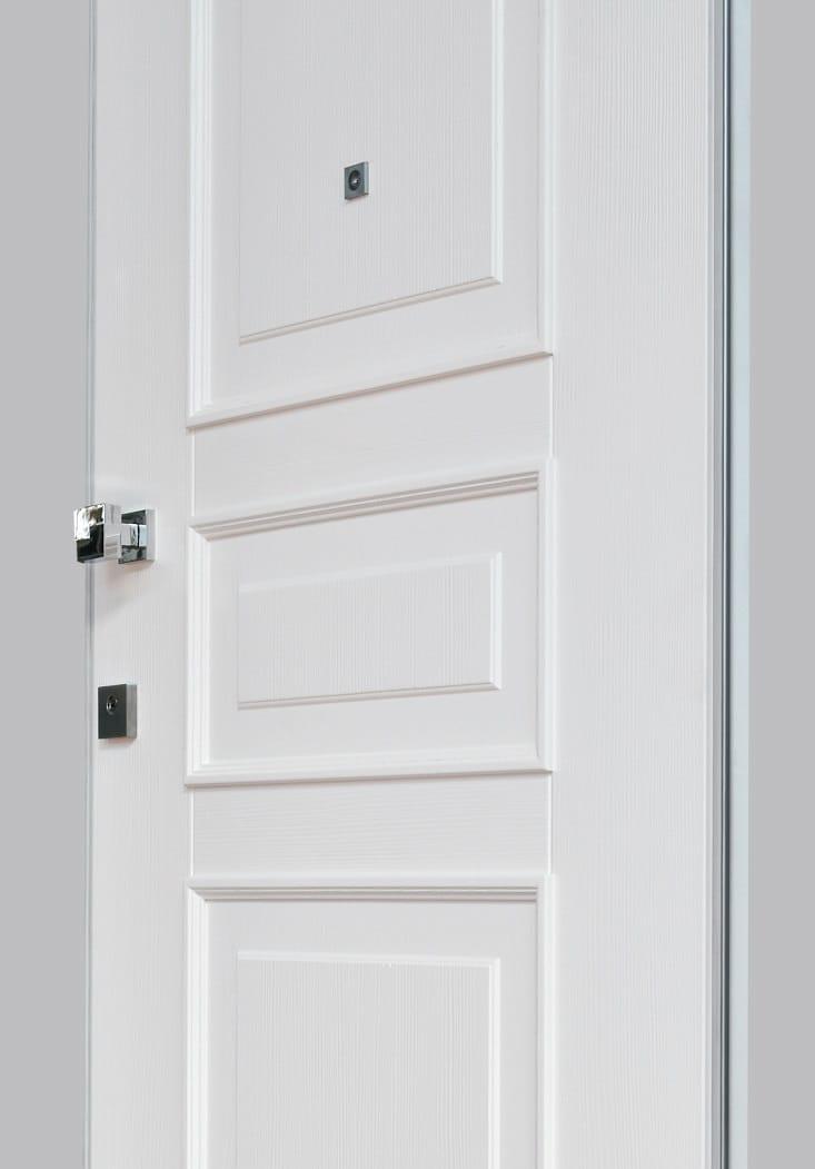 Pannello di rivestimento per porte blindate in legno white - Pannello decorativo per porte ...
