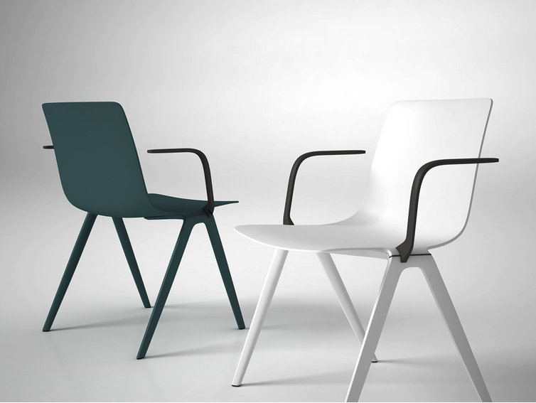 Plastic chair with armrests A Chair