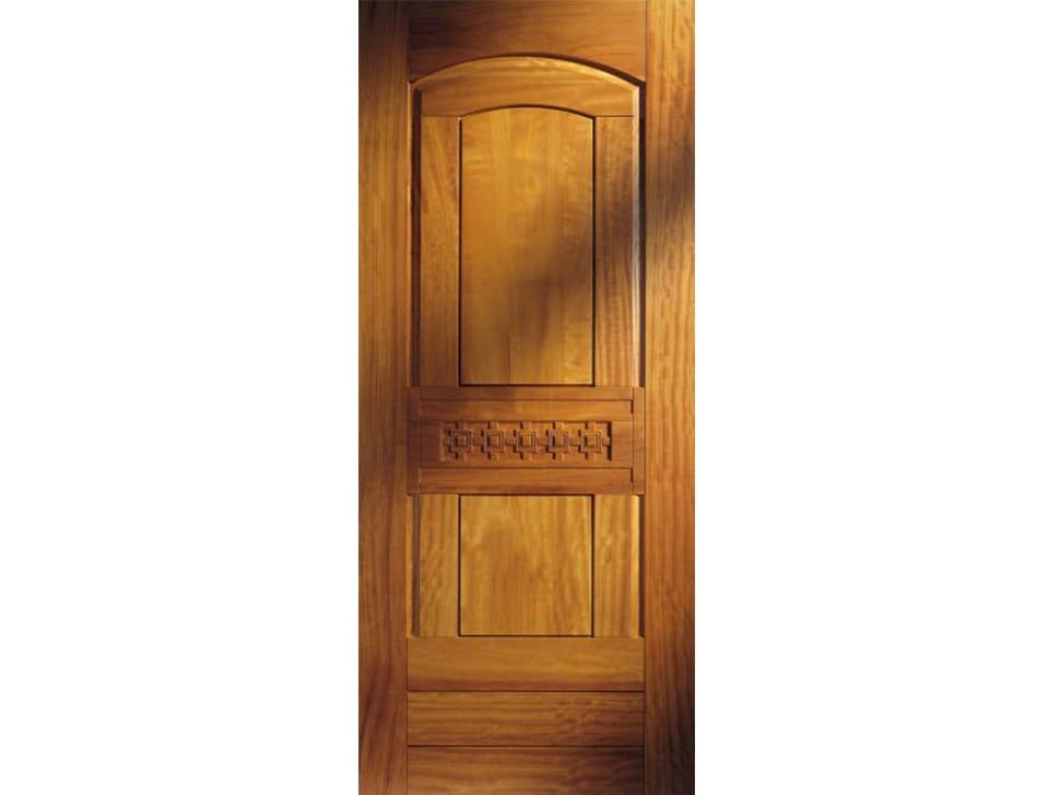 Panneau en iroko pour porte d 39 entr e bi144 ligne solid for Portes principales bois
