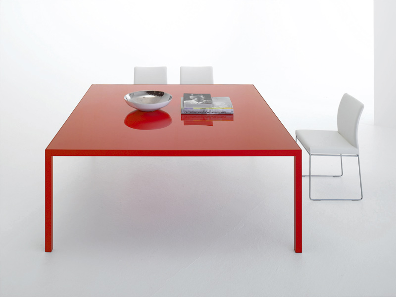 Extending aluminium table COLORS  Square table - MDF Italia
