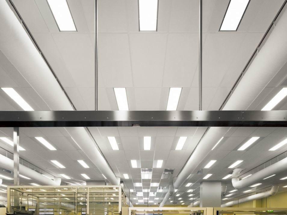 faux plafond insonorisant en laine de verre pour h pitaux. Black Bedroom Furniture Sets. Home Design Ideas