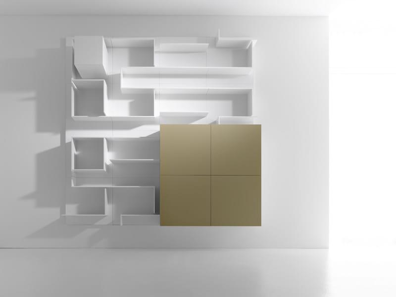 mueble modular de pared composable de mdf vita by mdf. Black Bedroom Furniture Sets. Home Design Ideas