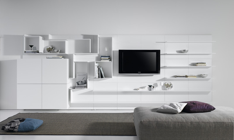 Sectional MDF storage wall , design by Massimo Mariani , Aedas R&S