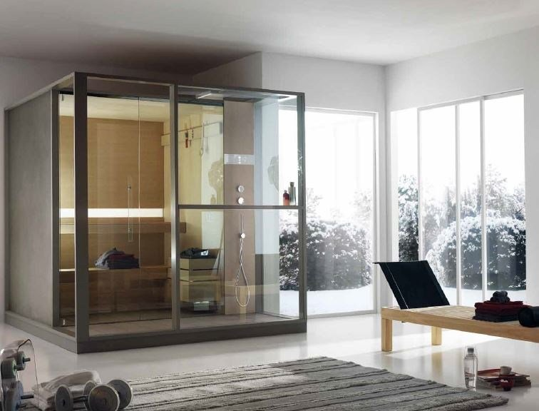 sauna finlandaise avec douche logica sauna by effegibi design talocci design. Black Bedroom Furniture Sets. Home Design Ideas