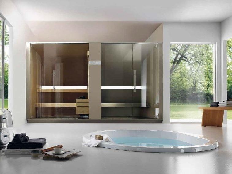 Sauna ba o turco s h twin by effegibi for Bagno con piani sauna