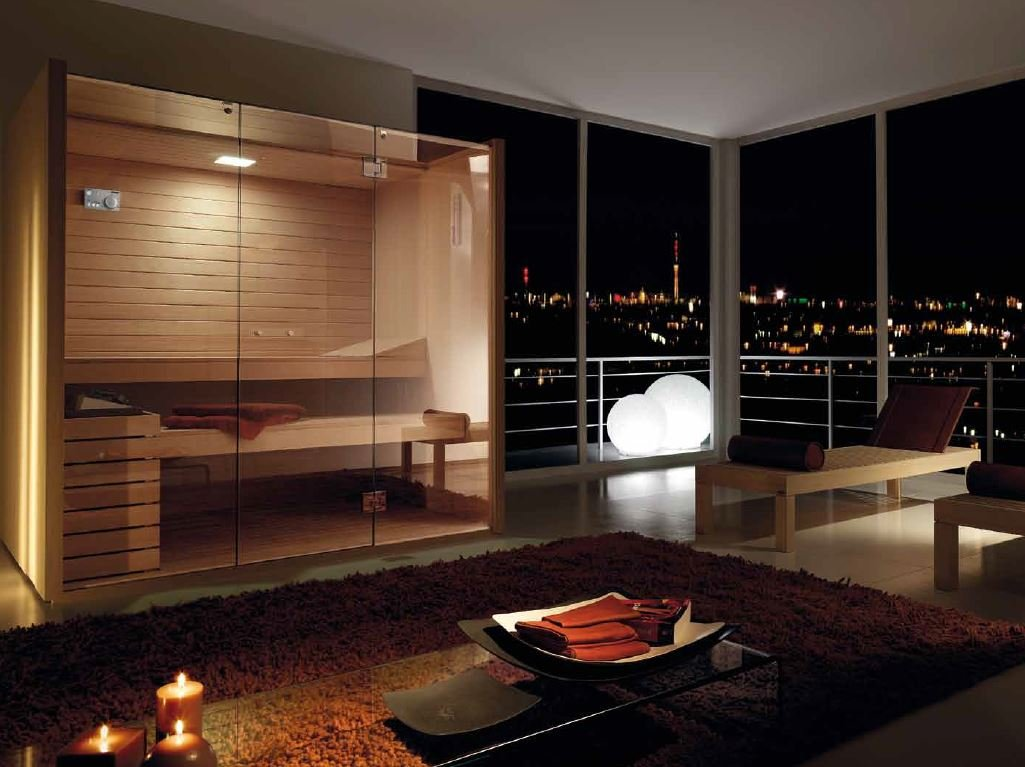 sauna sky glass by effegibi design talocci design. Black Bedroom Furniture Sets. Home Design Ideas