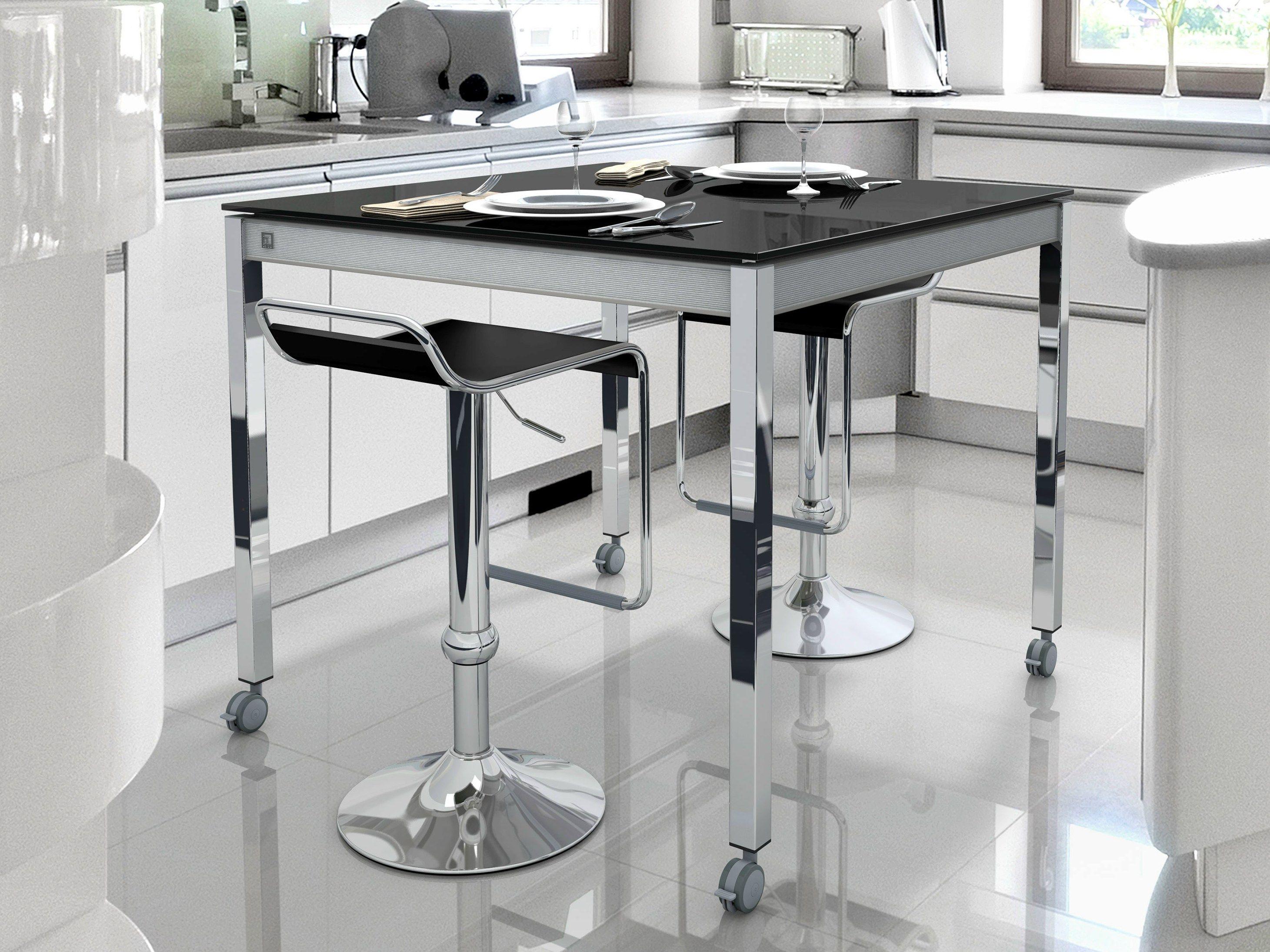 Tavolo alto con ruote multipla tavolo alto cancio for Tavolo alto usato