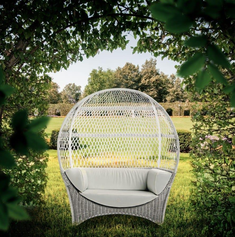 Divano a igloo da giardino in tessuto altair samuele for Outdoor giardino