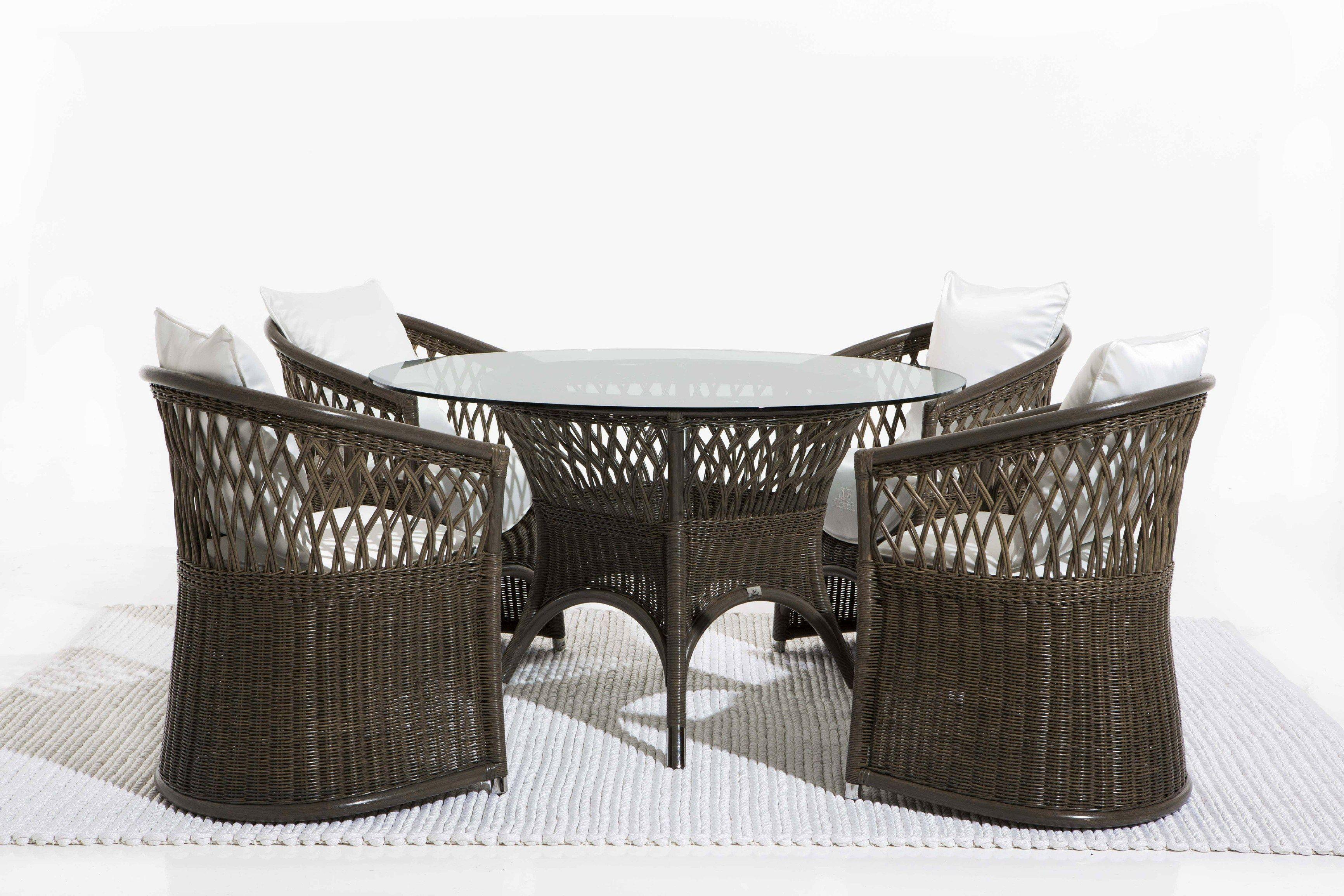 Table de jardin ronde rotin des id es for Repeindre une table basse en bois