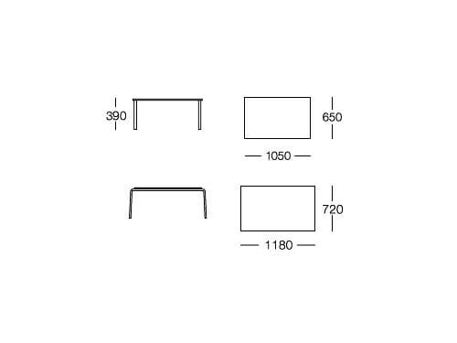 Ben tavolino rettangolare by rossin design lepper schmidt - Architecture moderne residentielle schmidt lepper ...